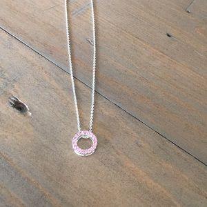 Pink gemstone necklace